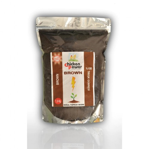 Chicken Power Brown: % 100 Tavuk Gübresi 1,5 Kg Özel Ambalaj